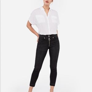 Express cropped jeans. No tag.